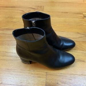 Michael Kors Ankle Boots Black Leather Size 6M